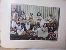 ALGERIE: Gravure 19° in folio couleur /FEMMES ARABES DE MASCARA(MAURESQUES)