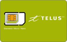 New Telus sim card, Fits any phone. Standard, Micro and Nano