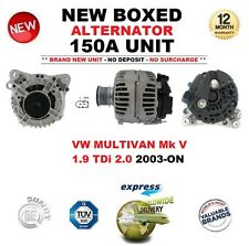 FOR VW MULTIVAN Mk V 1.9 TDi 2.0 2003-ON NEW ALTERNATOR 150A ** OE QUALITY **