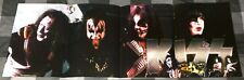 KISS / ACE FREHLEY / GENE SIMMONS /  1980'S 4 PAGE MAGAZINE POSTER + FREE DVD
