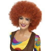 60s Auburn Groovy Curly Huge Giant Afro Wig Ladies Womens Fancy Dress Costume