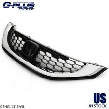 Fit For 13 2015 Honda Civic Sedan Front Bumper Upper Grill Grille With Chrome Trim Fits 2013 Honda Civic Si