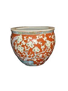 Oriental Fish Bowl Planter Pot Vase Pottery