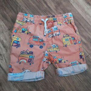 Boys summer shorts age 18 - 24 months TU 100% cotton shorts car camper van bus