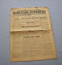 Czasopismo Robotnik Pomorski nr 33 z 1945 / Toruń, gazeta, Old Polish newspaper