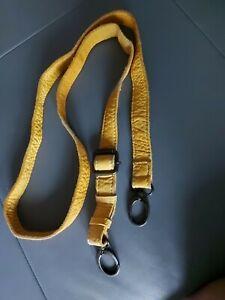 Taschengurt Leder gelb neu