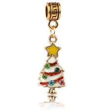 1PCS Christmas tree 3D Charm Pendant Beads fit European Silver Bracelet #A444