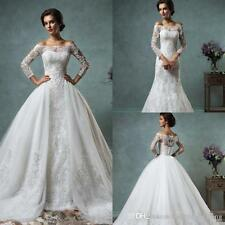 Vintage Lace Wedding Dresses with Detachable Skirt Long Sleeve Bridal Gowns