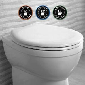 Universal White NEUTRON Toilet Seat Soft Close Quick Release Easy Clean Hinges