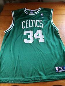 Vintage  BOSTON CELTICS #34 PAUL PIERCE BASKETBALL JERSEY reebok Men Sz L mint!!