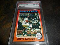 1975 OPC O-pee-chee #185 Steve Carlton Philadelphia Phillies HOF NM MINT PSA 8