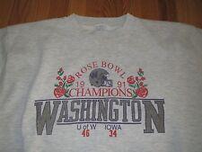 Vtg 1991 Washington Huskies Rose Bowl Sweatshirt T-shirt Medium **OLD RARE**