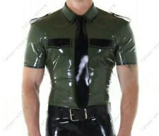 085 Latex Rubber Gummi Male short sleeves military Shirt Tops customized 0.4mm
