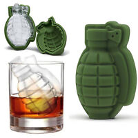 Novelty Grenade 3D Ice Cube Mold Maker Bar Party Silicone Trays Mold Tools New