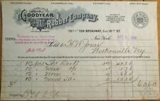 Goodyear Rubber Company 1905 Letterhead - Tires/Boots/Shoes - New York