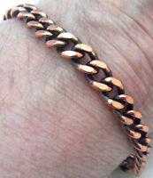 "Copper Bracelet 7.37 "" Linked Wheeler Sciatica Arthritis Healing Folklore cb 241"