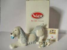 Wade Blow up Spaniel + Gold Ball Whimsie 50 Year Anniversery Figures Cert+Boxed