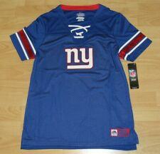 New York Giants Fashion Draft Me Sexy Shirt Lace-up Jersey Women's Medium