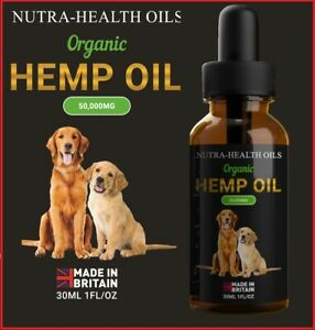Dog Hemp Oil 🟢 Calming & Support Supplement 🟢 Hemp Oil For Dogs 🟢 50,000mg