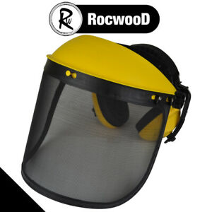 Face Shield Ear Defenders And Mesh Visor For Strimmer And Brushcutters