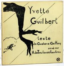 Gustave Geffroy, Henri de Toulouse-Lautrec / Yvette Guilbert 1968