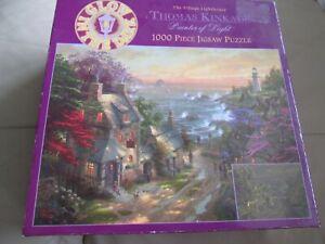 GLOW IN THE DARK  THOMAS KINKADE The Village Lighthouse 1000 Piece Jigsaw Puzzle