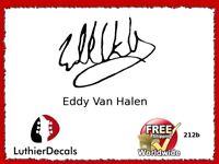 Eddy Van halen Signature Guitar Headstock Decal Restoration Waterslide 212b