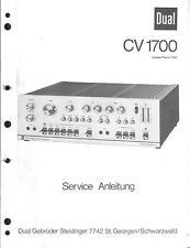 Dual Service Manual für CV 1700