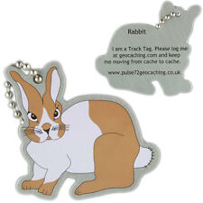 Bunny Rabbit Track Tag For Geocaching (Travel Bug Geocoin)