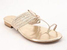 New ETIENNE AIGNER Women Leather Flat Flip Flop Thong Slide Sandal Shoe Sz 8.5 M