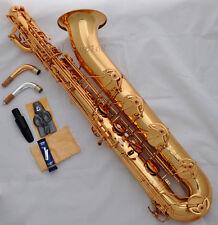 Professional TAISHAN Baritone Saxophone Gold Eb Sax FREE 2neck Germany mouthpis