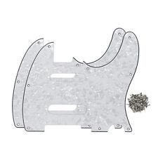 2PCS Fender Nashville Telecaster Pickguards SS Style 8Holes White Pearl 4Ply