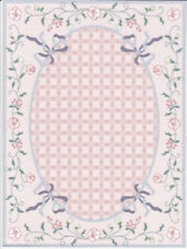 "Dollhouse Miniature Pink Cottage Garden Large Accent Rug 8 5/8"" x 6 3/8"" RG151"
