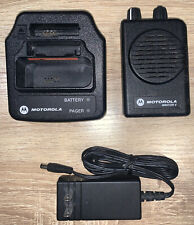Motorola Minitor V 151-158.9 Mhz Vhf Stored Voice 2 Ch Fire Ems Pager w Charger