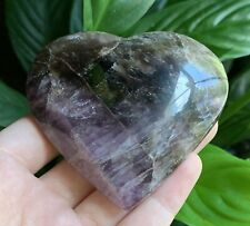 "Rare ""SUPER SEVEN"" Quartz Heart rainbows Crystal Stone Reiki Charge Brazil"