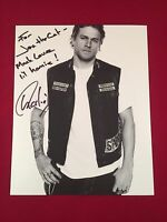 Charlie Hunnam Sons Of Anarchy Autographed 8x10 Photo Jax Teller Inscription 1/1