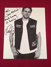 Charlie Hunnam Sons Of Anarchy Autographed 8x10 Photo Jax Teller Inscription 1/1