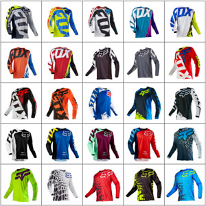 Mens Tops Fox 180 Race Dirt Jersey ATV MX Off-Road Motocross DH MTB Cycling Bike