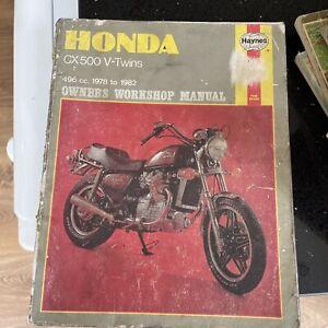 Honda CX 500 V Twin....  Haynes workshop Manual