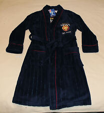 Brisbane Lions AFL Boys Navy Blue Embroidered Fleece Dressing Gown Size 12 New