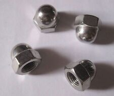 10-32, 1/4, 5/16, 3/8 UNF Dome Nuts - Stainless Steel