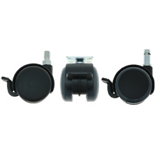 More details for 5 pack 50mm soft castor wheels, office chair wheel replacement, swivel castors