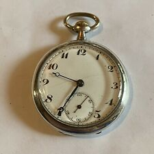 Nice Looking Running 43Mm Areymond Sterling Silver Swiss Pocket Watch (F53)