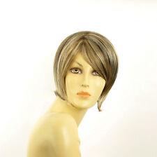 Perruque femme courte blond clair méché cuivré chocolat  ALINE 15613H4