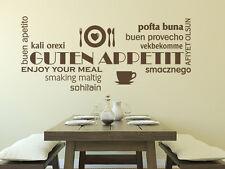 Wandtattoo Küche Wandsticker Sprüche Wortwolke Guten Appetit Nr 1 Wand Tattoos