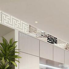 10pcs Modern Acrylic Plastic Mirror Stickers Wall Room Decal Decor Art DIY