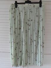 NEW WOMAN'S LADIES MINT GREEN FLORAL PLEATED SKIRT FULLY LINED UK PLUS SIZE 30