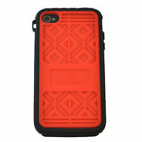 MUSUBO Hard Plastic Case Swappable Back Cover For Apple iPhone 4/4S - RED