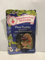 Strawberry Shortcake Strawberryland Miniatures - Plum Puddin' at school w/ Owl