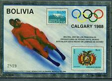 Bolivien Block 167 ** Winter-Olympiade 1988